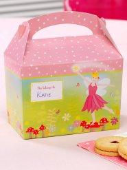 8 Scatole in cartone fatina rosa