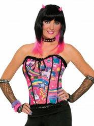Bustino da Pop Star multicolore per donna