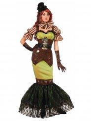 Costume Steampunk verde per donna