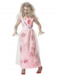 Costume da regina del ballo zombie per donna