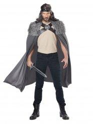 Mantello da guerriero del nord con finta pelliccia per adulto