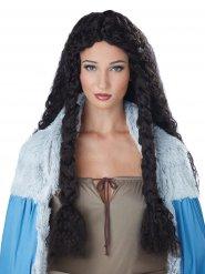 Parrucca riccia da vichingo per donna