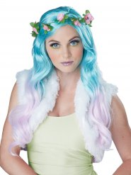 Parrucca turchese da fata
