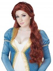 Parrucca da principessa medievale per donna