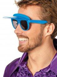 Occhiali con visiera blu per adulto