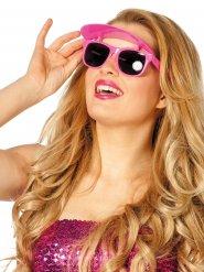 Occhiali rosa con visiera per donna