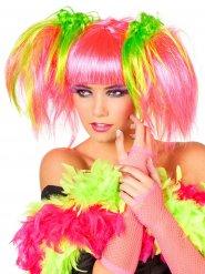 Parrucca rosa fluo per donna