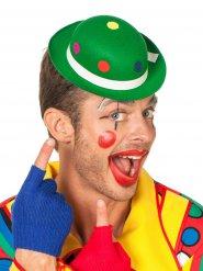 Cappello da clown verde a pois per adulto