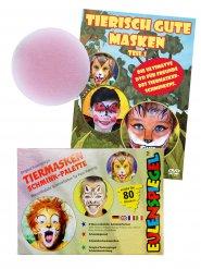 Kit per trucco multicolore da animali + DVD tutorial