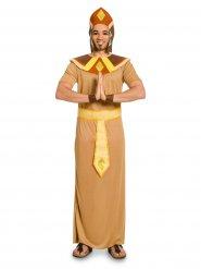 Costume da faraone egiziano marrone per uomo