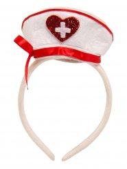Cerchietto con cappellino da infermiera