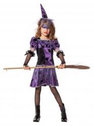 Costume da strega viola e nero da bambina