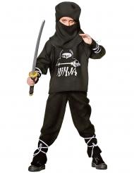 Costume da ninja bianco e nero per bambino