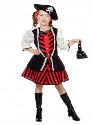 Costume capitano pirata da bambina