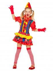 Costume da clown multicolore per bambina