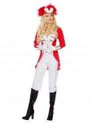 Costume da Majorette bianco e rosso per donna