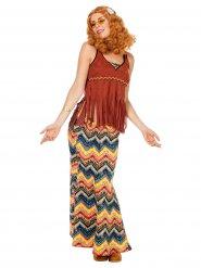 Costume hippie marrone da donna