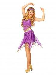 Costume da balleria orientale viola per donna