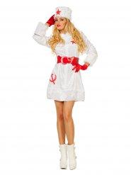 Costume russa bianco e rosso per donna