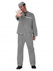 Costume da prigioniero a righe per adulto