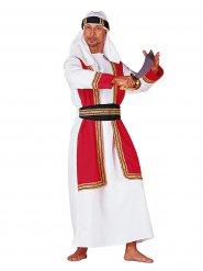 Costume da principe orientale rosso e bianco per uomo
