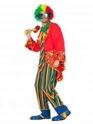 Costume da clown multicolore per adulto
