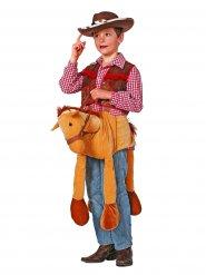 Costume carry me cowboy sul cavallo per bambino