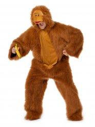 Costume da scimmia marrone per adulto