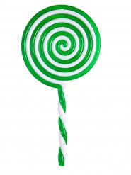 Lecca lecca verde 22,5 cm