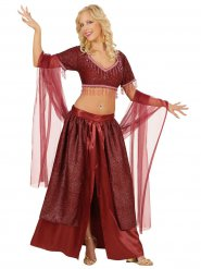 Costume rosso da ballerina orientale per donna