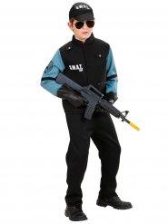 Costume poliziotto neroS.W.A.T per bambino