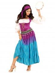 Costume gitana bohemienne multicolore donna