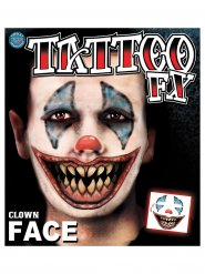 Kit tatuaggio clown malefico