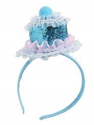 Cerchietto cupcake blu per donna