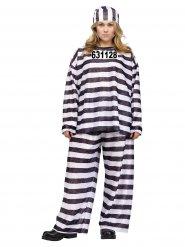 Costume da detenuta per donna in taglie forti
