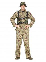 Costume da soldato mimetico per uomo
