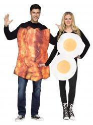 Costume di coppia uova e bacon