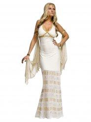 Costume dea greca bianco e oro per donna