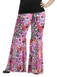 Pantalone hippie con fiori, taglia grande