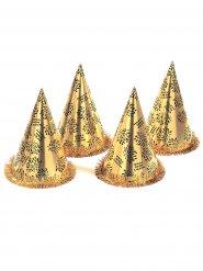 Cappello a punta dorato capodanno