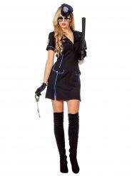 Costume nero e blu da poliziotta sexi
