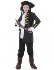 Costume pirata nobile nero da bambino