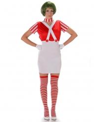 Costume da cioccolataia sexy in rosso per donna