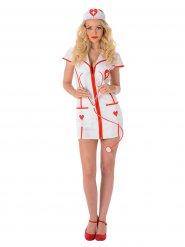 Costume da infermiera sexy rosso e bianco
