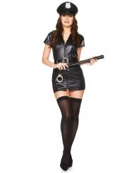Costume poliziotta sexy in nero per donna