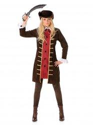 Costume da pirata marrone per donna