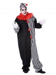 Costume per adulti da clown bianco e nero