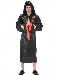 Costume samurai nero e dorato per adulto