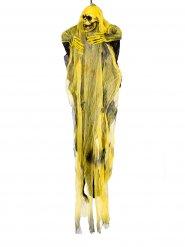 Decorazione morte appesa nero e giallo 60 cm