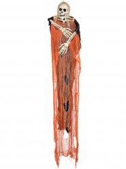 Pauroso  scheletro arancione per Halloween